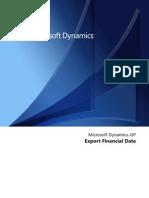 Export Financial Data
