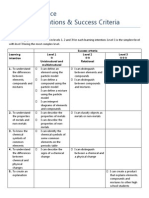 success criteria material science year 8