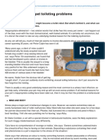 What To Do About Pet Toileting Problems