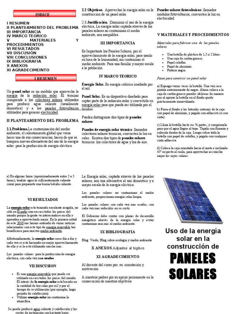 Triptico Paneles Solares Doc