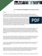 Declaración Política Por la Soberanía Energética en el camino de la Independencia