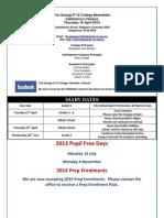 18 April 2013 Newsletter