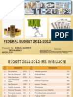 Pakistan Budget 2011-2012 silent feature