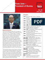 Profile of Thein Sein - President of Burma