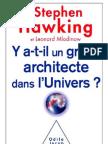 Y a-t-il Un Grand Architecte Dans l%27univers - Stephen Hawking