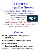 Anderson Micro-Gasifier Stoves