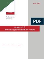 Dossier Thématique 5 - Mesurer la performance des achats