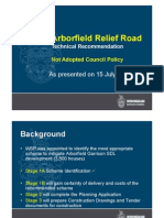 Arborfield Relief Road Technical Recommendation 15 July 2013