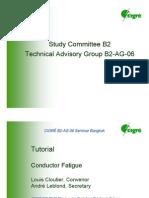 CIGRE - Tutorial Conductor Fatigue B2 AG 06 Bangkok