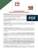 ANEXO Nº 2 ACTA DE COMPROMISO DE LOS PROMOTORES