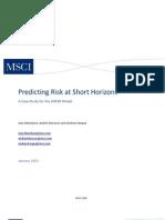 Barra Predicting Risk at Short Horizons