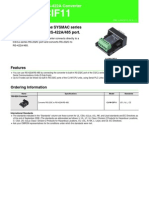 cj1w-cif11 Datasheet