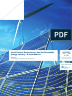 Local Content Requirements and the Renewable Energy Industry - A Good Match?