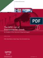 The APEC List of Environmental Goods