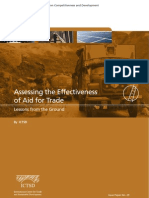 Assessing the Effectiveness of Aid for Trade