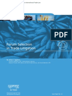 Forum Selection in Trade Litigation