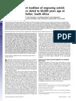 Earliy Human Writing South Africa