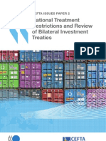 Central European Free Trade Agreement - National Treatment Restrictions and Review of Bilateral Investment Treaties