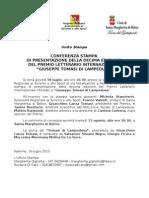"""Conferenza Stampa - Premio Letterario """"G. Tomasi di Lampedusa"""" 2013"""