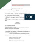 Modelo de Estatuto de Fundao