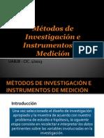 Métodos de Investigación e Instrumentos de Medición