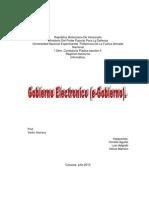 E-gobierno Trabajo de Informatica