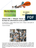 Atlético-MG e Olimpia fazem primeiro jogo da final nesta quarta