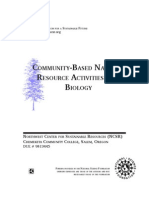 Community Based Natural Resource Activities for Biology