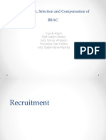 Recruitment, Selection and Compensation of BRAC