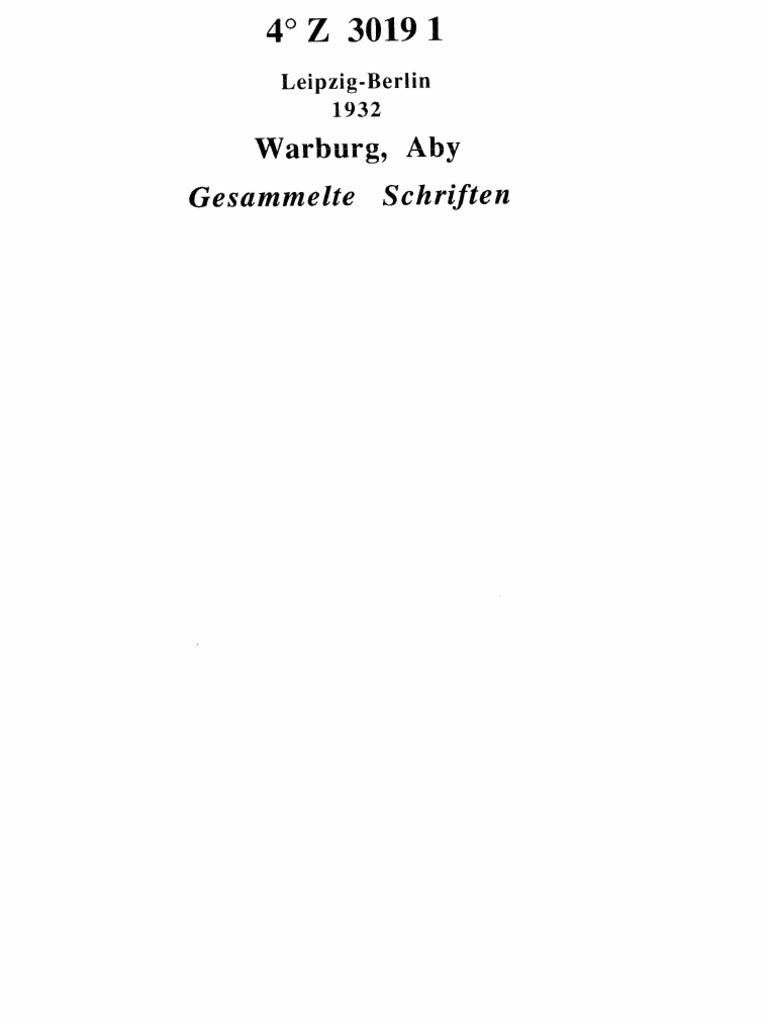 Warburg - Gesammelte Schriften. Band 1.pdf