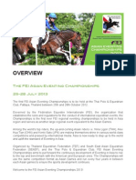 FEI ASIAN EVENTING CHAMPIONSHIPS 2013 - PRESS KIT (ENGLISH)