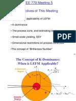 Lecture 5 Limit of LEFM
