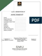 MU0018 Assignment Spring 2013
