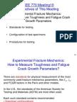 Lecture 10 Experimental Fracture Mechanics 1