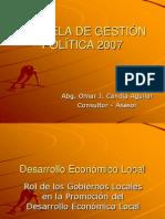 ESCUELA DE GESTIÓN POLÍTICA 2007 deconomico y compras públicas