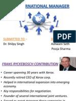 Frans Ryckebosch:An International Manager