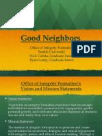 good neighbors presentation