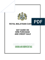 GST Guide on Hire Purchase and Credit Sale