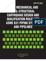 Align Mechanical and Civil-Structural Earthquake Design and Qualification Rules for ASME B31 Piping Systems and Pipelines