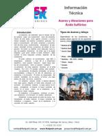 Aceros y Aleaciones Para Acido Sulfurico