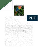 LEY DE LA AMAZONÍA