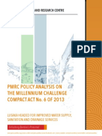 PMRC Policy Analysis for The Millennium Challenge Compact Act No. 6 of 2013