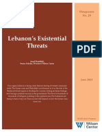 Lebanon's Existential Threats (Viewpoints No. 29)