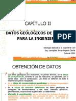 CAPÍTULO II DATOS GEOLÓGICOS DE INTERÉS