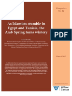As Islamists Stumble in Egypt and Tunisia, the Arab Spring Turns Wintery (Viewpoints No.24)