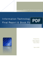 IT Sector Final Report and Stock Pitch
