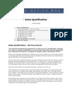 Sales Qualification White Paper