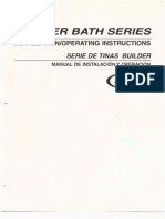 Jacuzzi Whirlpool Bath Builder Bath Series Instructions