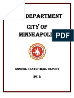 Minneapolis Fire Department 2012 Statistical Reporrt