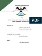 Tesis Costos de Operaciones y Precios de Venta en Las AAVV Cusco
